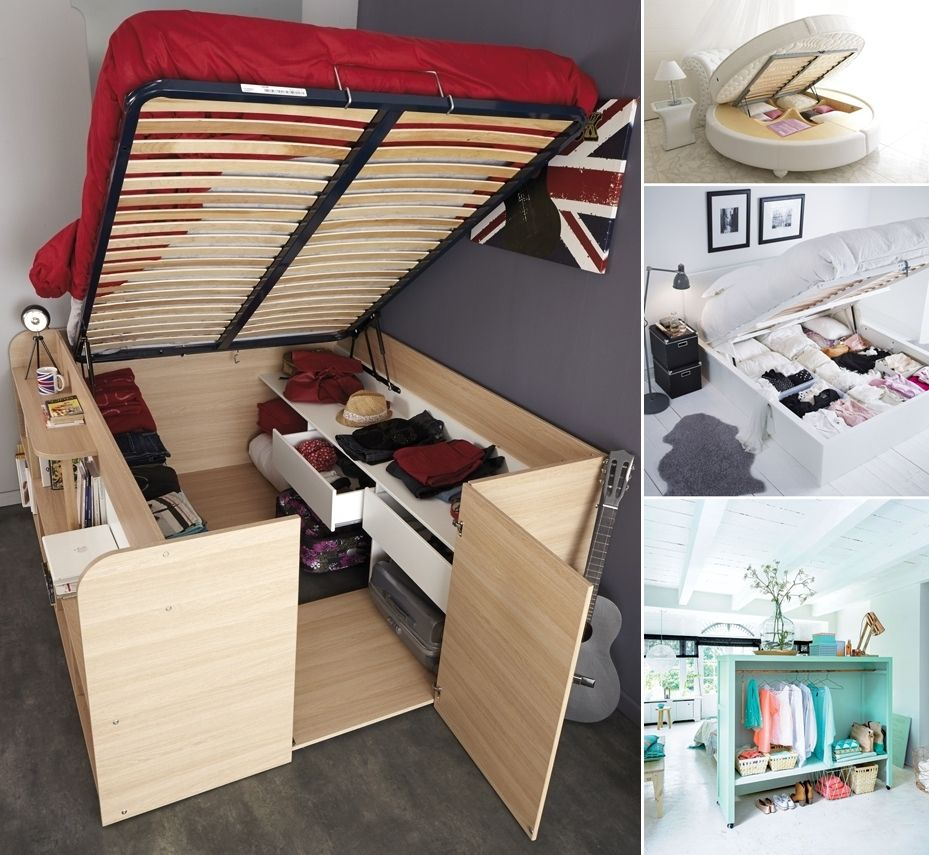 13 Clever Ideas To Use Bedroom Furniture For Storage Furniture For Small Spaces Storage Furniture Bedroom Small Bedroom Storage