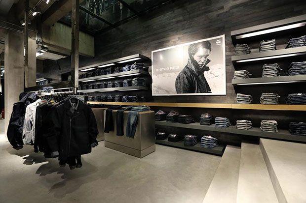 G star la marque de denim innovante | Intérieurs de magasins