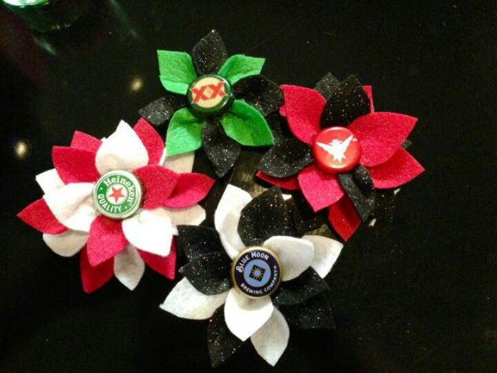 Diy bottle cap hair flowers too cute pinterest for How to make bottle cap flowers