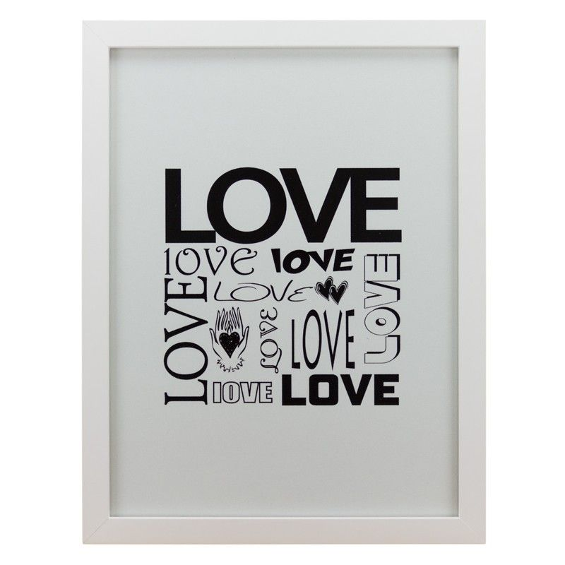 Quadro Modern Love Preto & Branco - Col. Exclusiva - Boutique de Achados