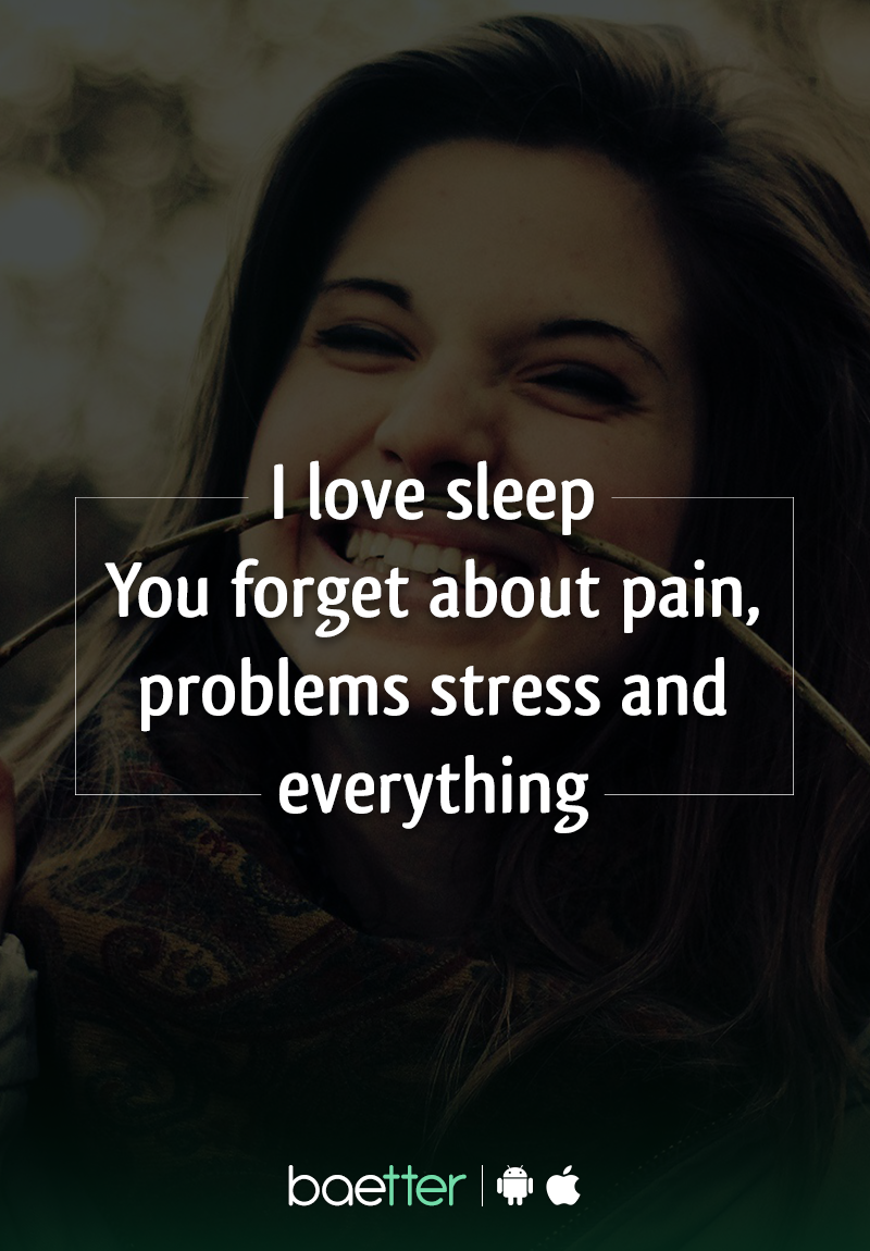 Sleep is a cure to everything: Low grades, No Money and No shopping :D Don't you take naps when you are under a lot of stress?  Click to  find such witty cards on BAEtter App.