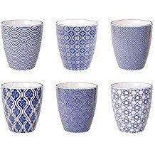 Tokyo Design Studio Nippon Blue Tasses De 200 Ml Lot De 6 Tasses