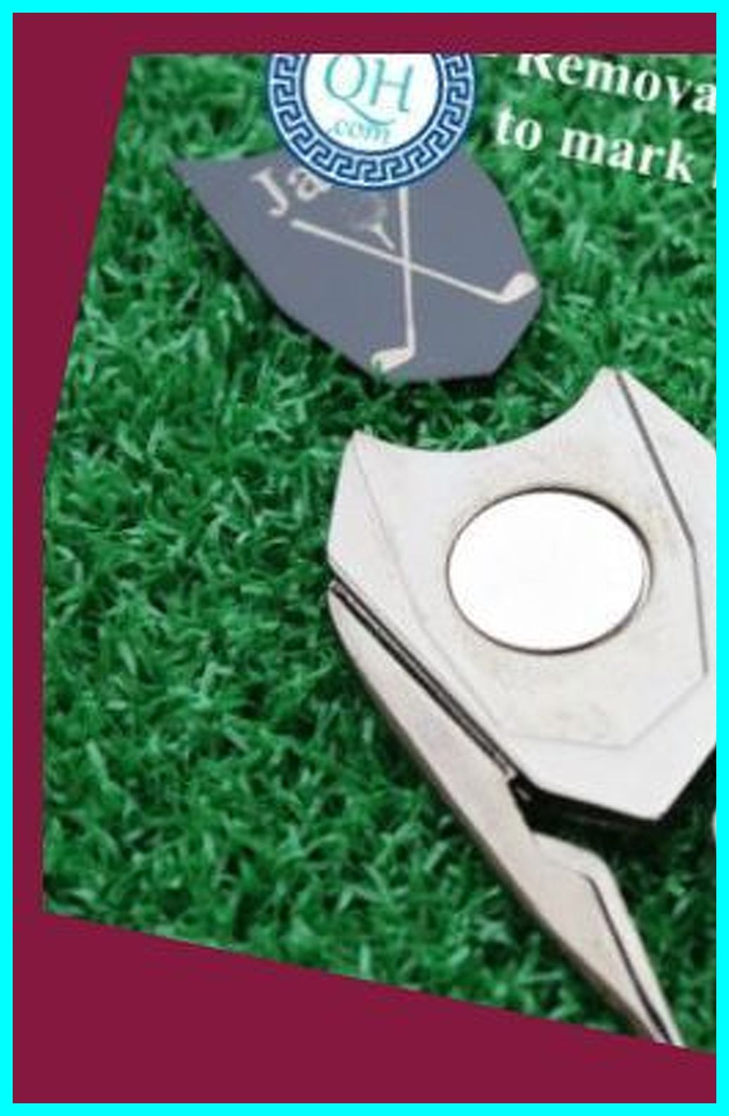 Two Personalized Golf Ball Marker And Divot Tools His And Hers Golf Best Man Groomsmen Boyfri Persona In 2020 Personalized Golf Ball Marker Golf Ball Ball Markers