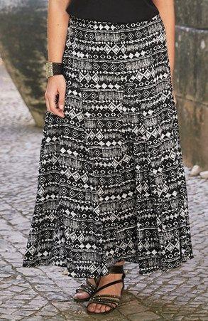 Mega seje Cellbes Nederdel Sort Mønstret Cellbes Nederdele til Damer i luksus kvalitet