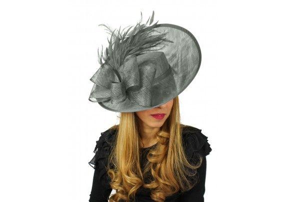 5e48c993ac0ba Daiquiri Dark Grey Fascinator Hat for Weddings