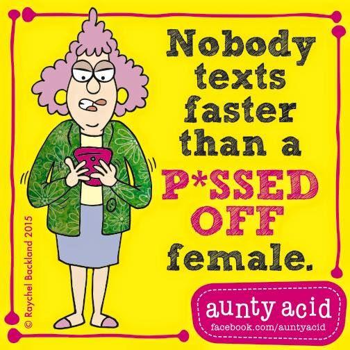 #AuntyAcid nobody texts faster