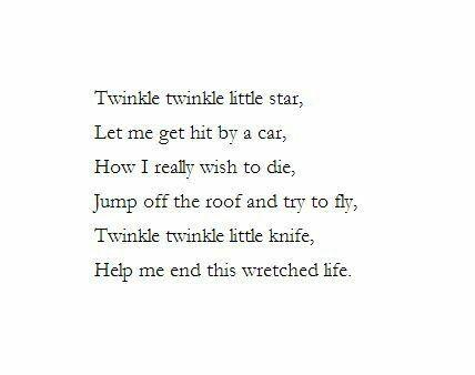 Help me end this wretched life little dagger° Depression poem ...