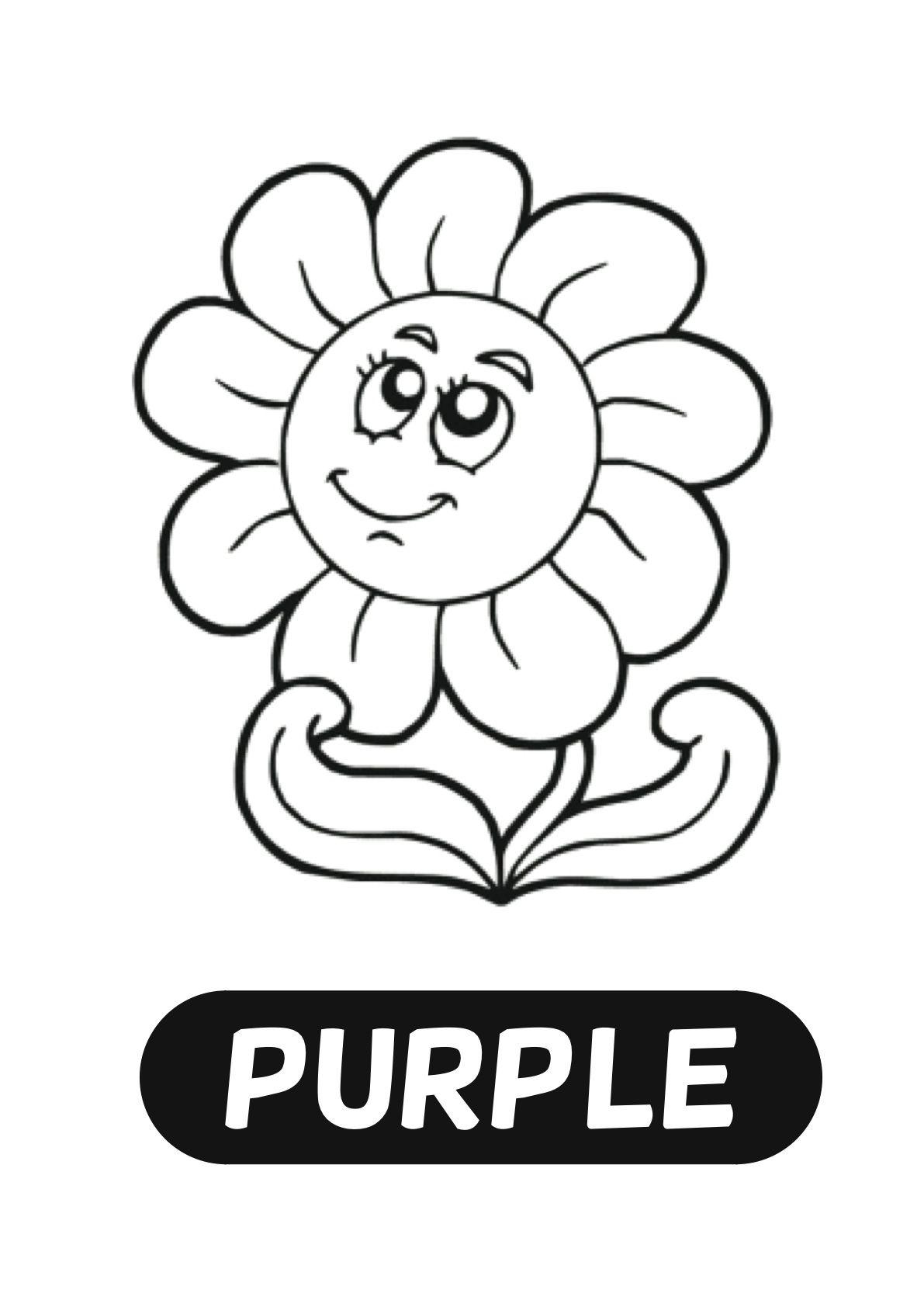 Colour Art Purple Rip And Stick Flower Petals Colour