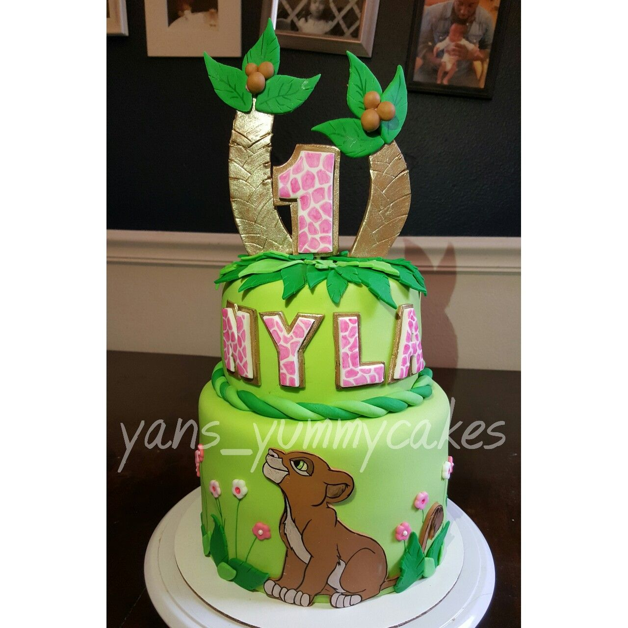 Lion King Cake for a girl featuring Nala Cakes by YansYummycakes