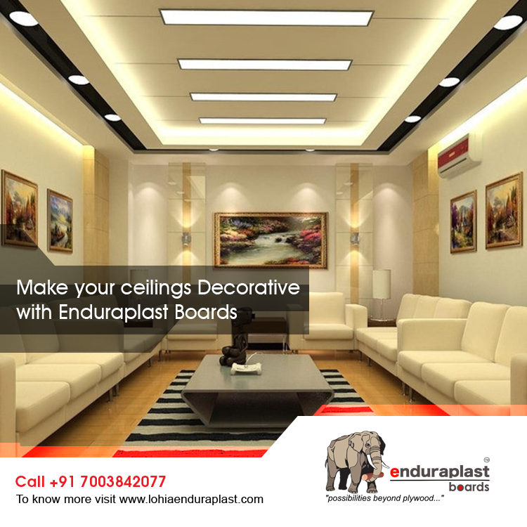 Make Your Ceiling Decorative With Enduraplast Boardsto Know More Brilliant Ceiling Pop Design Living Room 2018