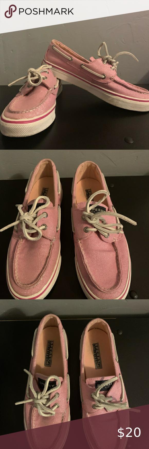 Woman's Pink Glitter Sperrys in 2020
