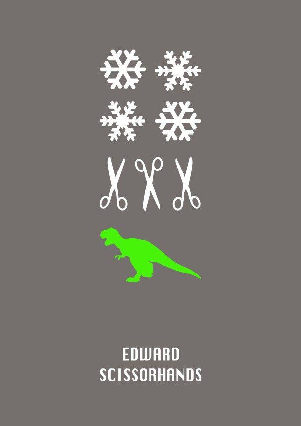 Minimalist Movie Poster Of Edward Scissorhands Edward