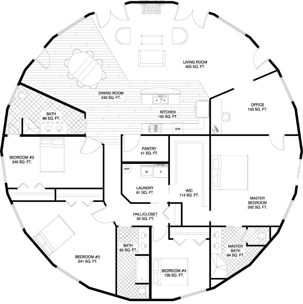 Floorplan Gallery Round Floorplans Custom Floorplans Round House Plans Round House Floor Plans