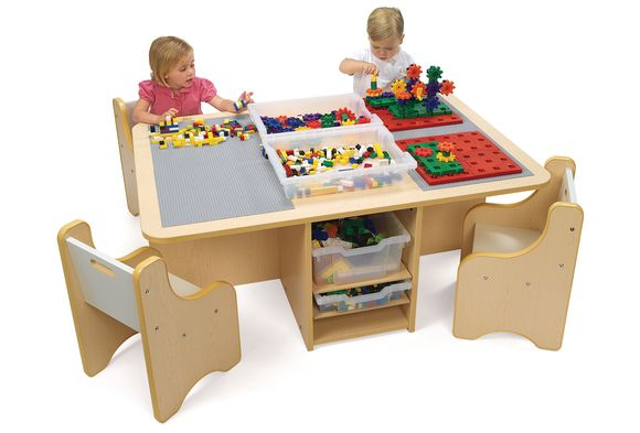 Discount School Supply Quad Activity Table With Storage Lego Home Chez Lego Pinterest