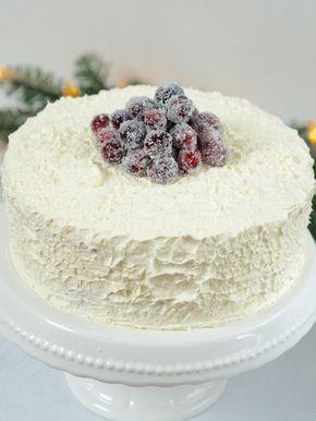 Photo of Weiße Weihnachtstorte mit Cranberries | danielas foodblog