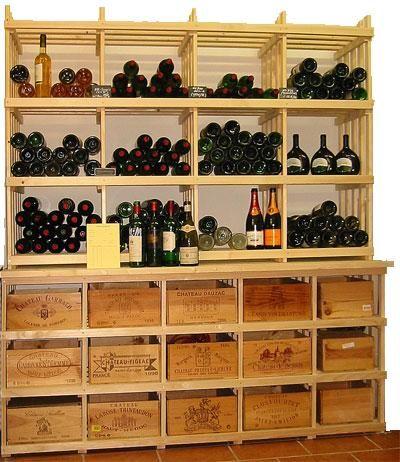 Casiers pour bouteilles casier vin cave vin rangement - Dimension caisse de vin ...
