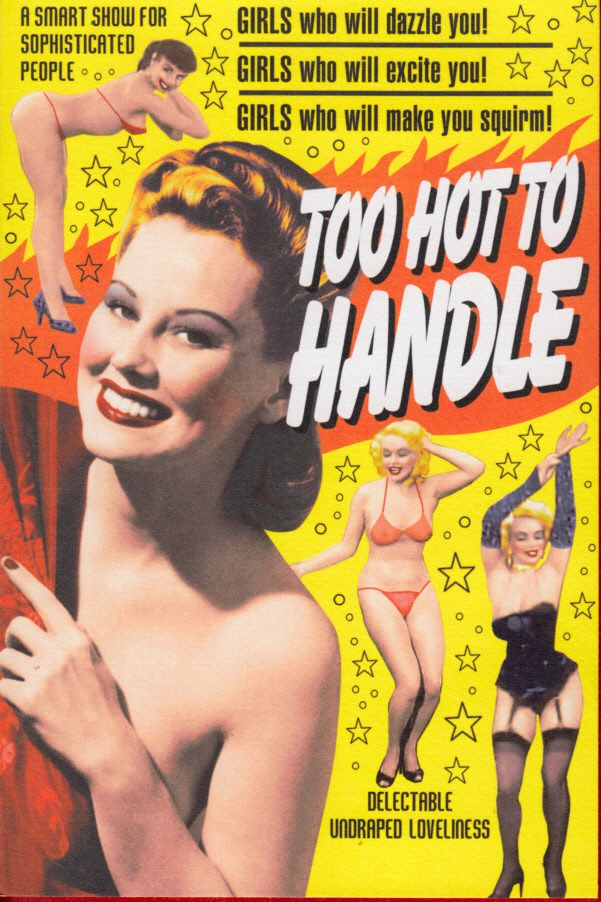 Too Hot To Handle In 2019 Burlesque Movie Old Movie Posters