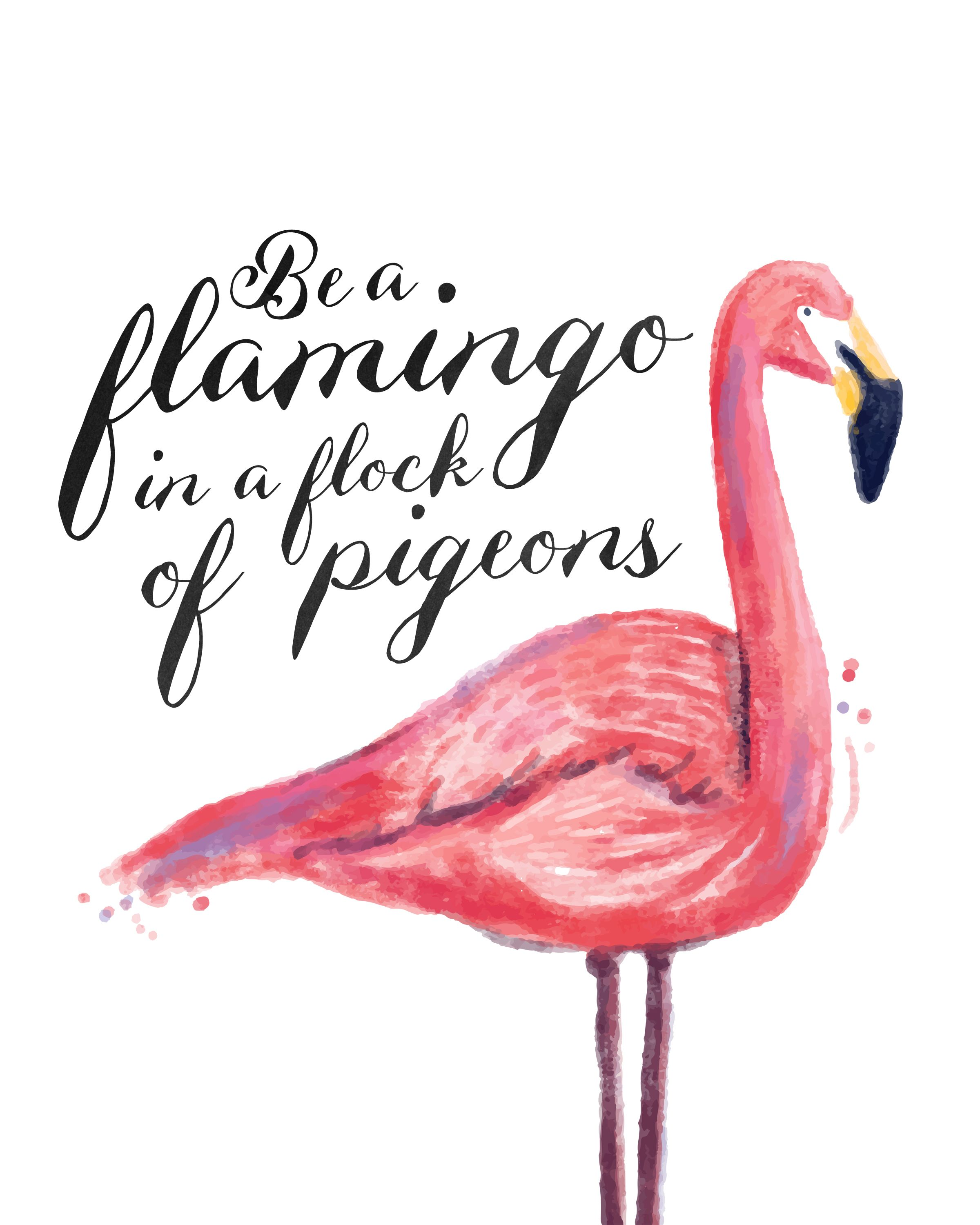 Free Printable Flamingo Print | Planner pages | Flamingo ...