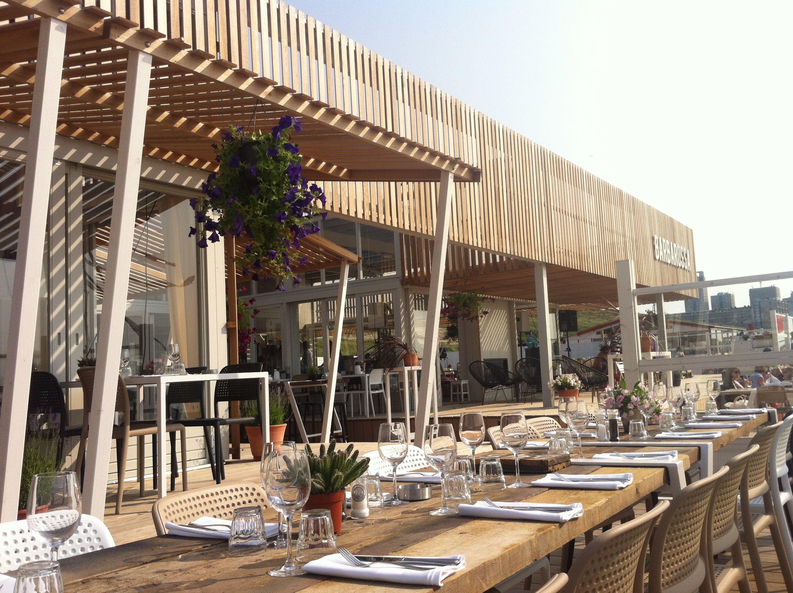 Restaurant exterior architecture - Barbarossa Beachclub Bar Restaurant Scheveningen Strandtent Strandclub Wij Strandweg 1 2586 Jk Scheveningen Telefoon