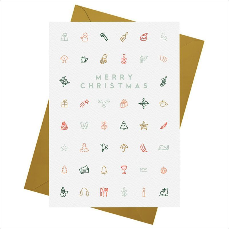 14 Modern Christmas Cards To Keep Your Holidays Classy minimalist