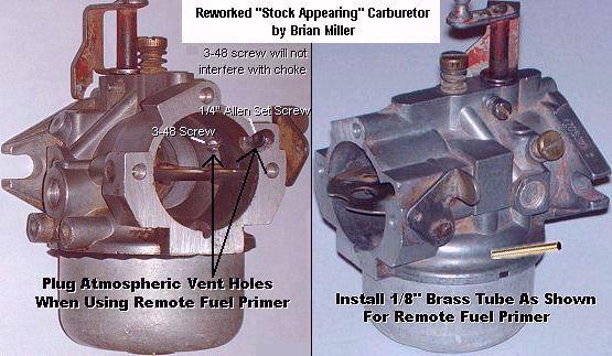 Information About The Carter Kohler And Walbro Carburetors