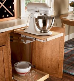 Perfect Storage Solutions Details   Base Mixer Shelf   KraftMaid For Island?