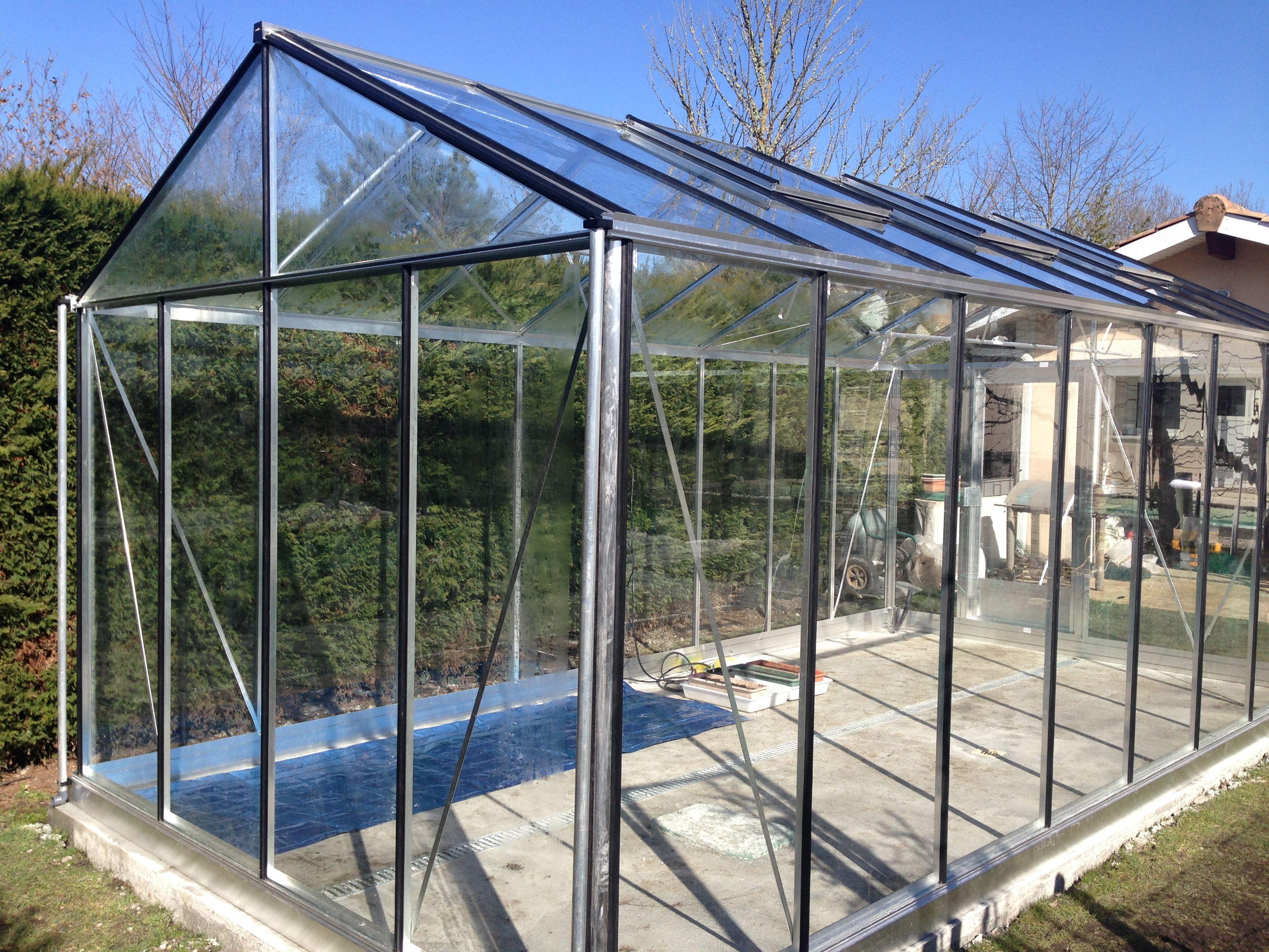 serre euro maxi largeur m serres aluminium verre polycarbonate pinterest. Black Bedroom Furniture Sets. Home Design Ideas