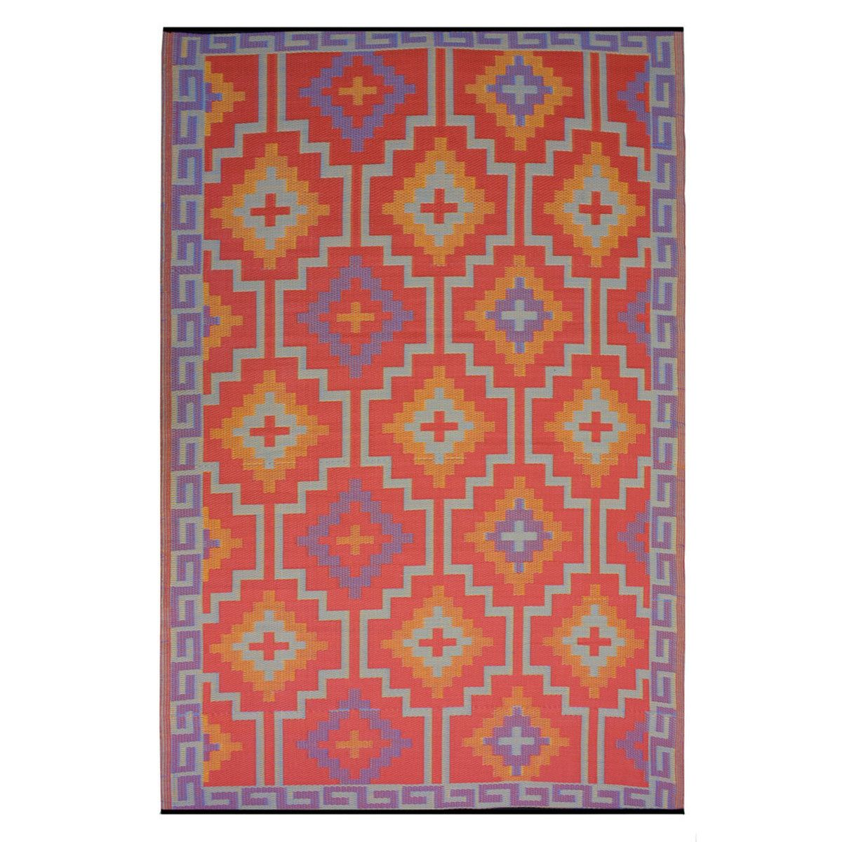 62 Fab Com Lhasa 6x9 Orange Fab Habitat Outdoor Rugs Rugs