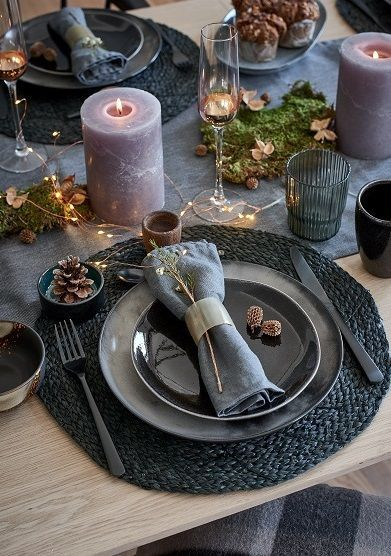 Inspiration: Nordic Christmas This look blends materials …