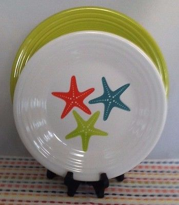 Fiestaware Coastal Starfish Lunch Plate and Lemongrass