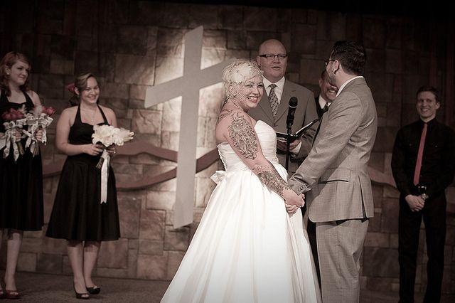 Cailey & Christian's 1950s BBQ saloon wedding
