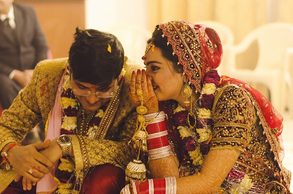 Wedding Candid! ''Bride mumble to her Groom during the
