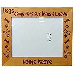 personalized laser engraved wooden photo picture frame 8 x 10 dog lover quotes