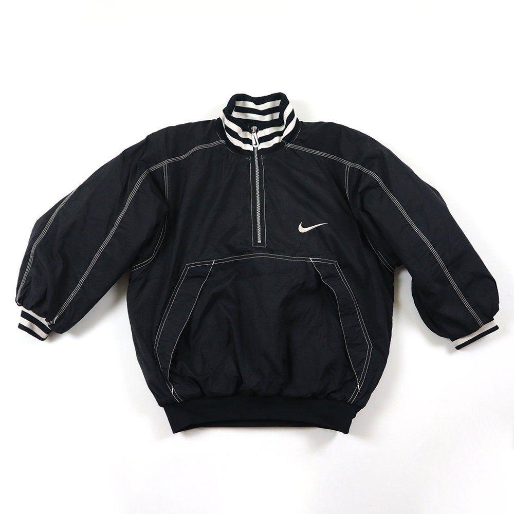 Vintage 90s Nike Pullover Jumper Bomber Windbreaker Halfzip Jacket Nike Shell Puff Puffy Puffer Jacket Fashion Nike Pullover Streetwear Fashion [ 1000 x 1000 Pixel ]