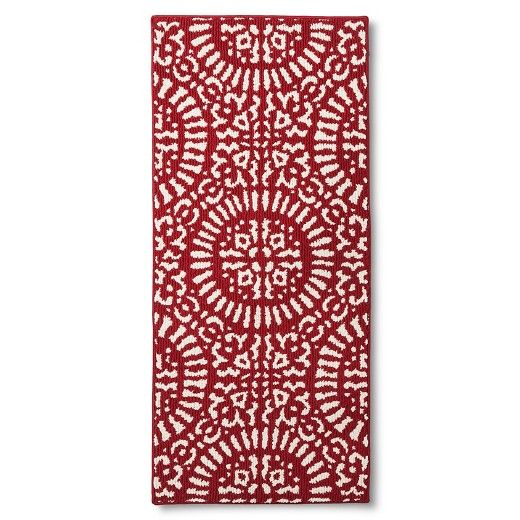 red medallion kitchen rug - threshold™ (with images