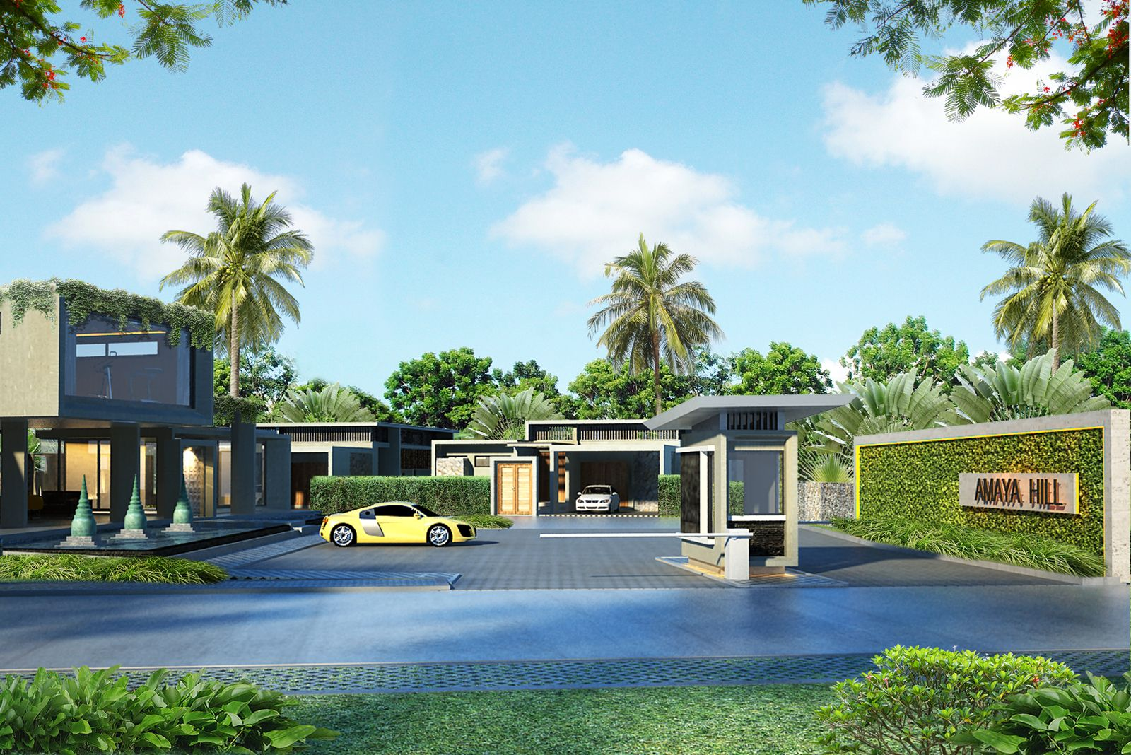 Amaya Hill Project Front Entrance