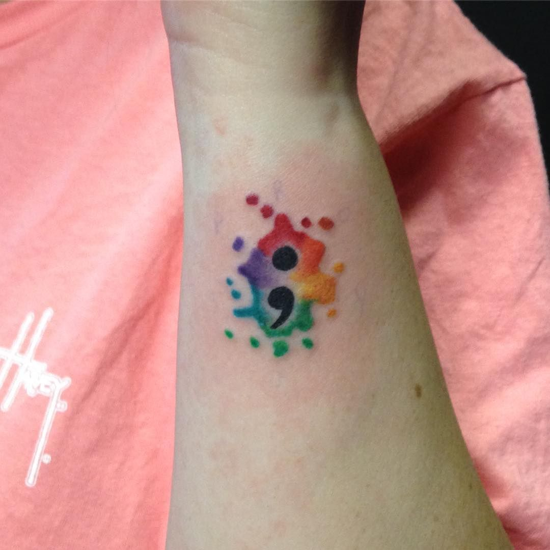 838ebad5bbbf9 Top 70 Semicolon Tattoo Designs From The Most Beautiful People ...
