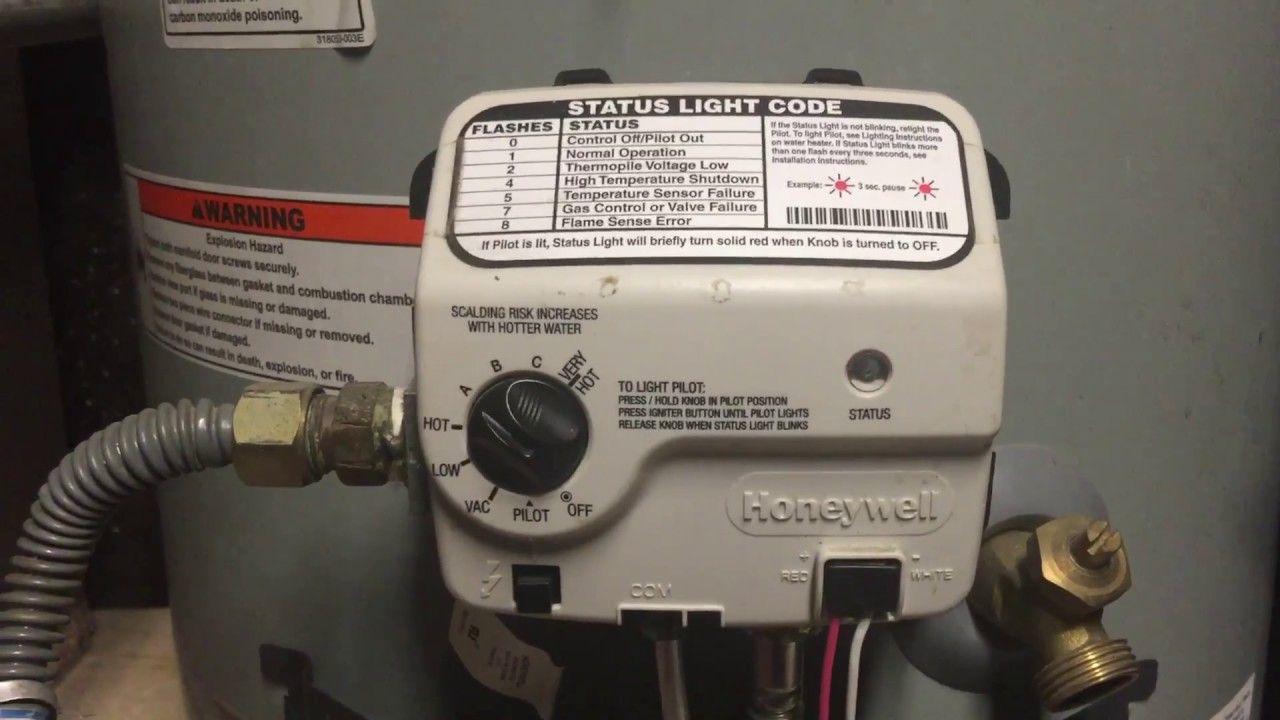 Water Heater Pilot Light Keeps Going Out Honeywell Controller
