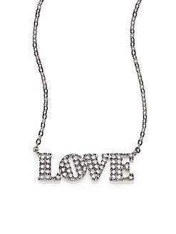 Adriana Orsini - Sterling Silver Pavé Love Necklace