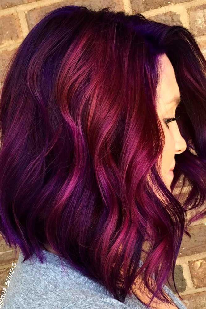 55 Fabulous Rainbow Hair Color Ideas Lovehairstyles Com Bob Hair Color Magenta Hair Magenta Hair Colors
