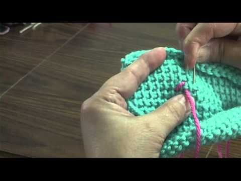 How to cross-stitch on Tunisian crochet (Afghan Stitch) such that ...