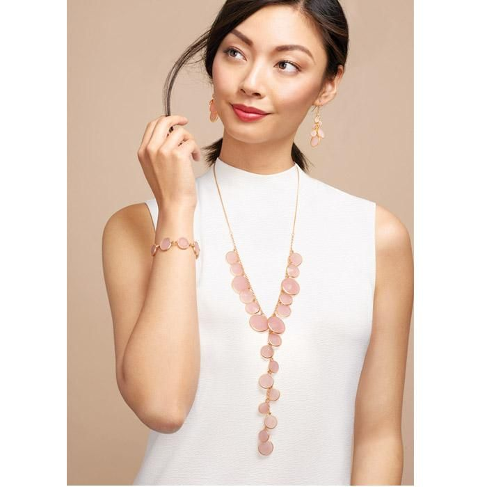 Nothing says flirty quite like a pop of pink! Fabulous in Pink Necklace  #AVON