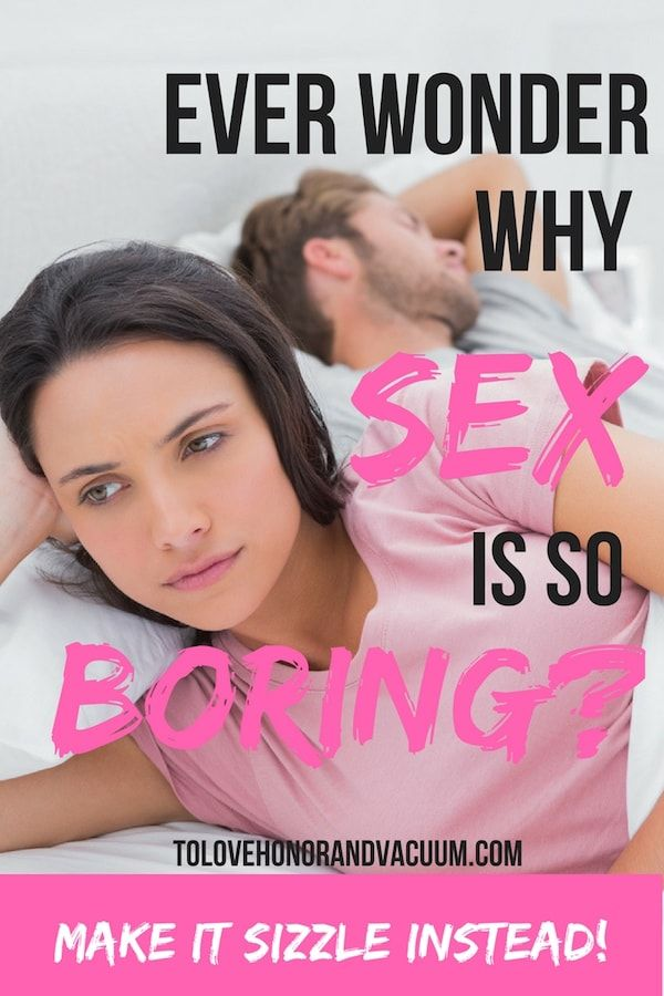 Boring sex in are marriage