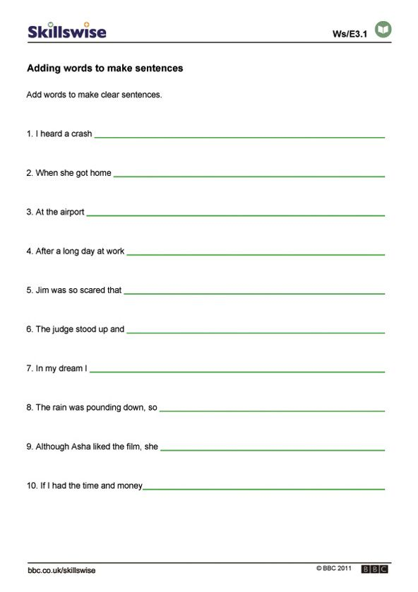 Sentence Structure Worksheets Sentence Structure Worksheet Preview