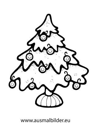 Ausmalbild Weihnachtsbaum Mit Smiley Kugeln Weihnachten Zum Ausmalen Weihnachtsmalvorlagen Ausmalbilder Weihnachten