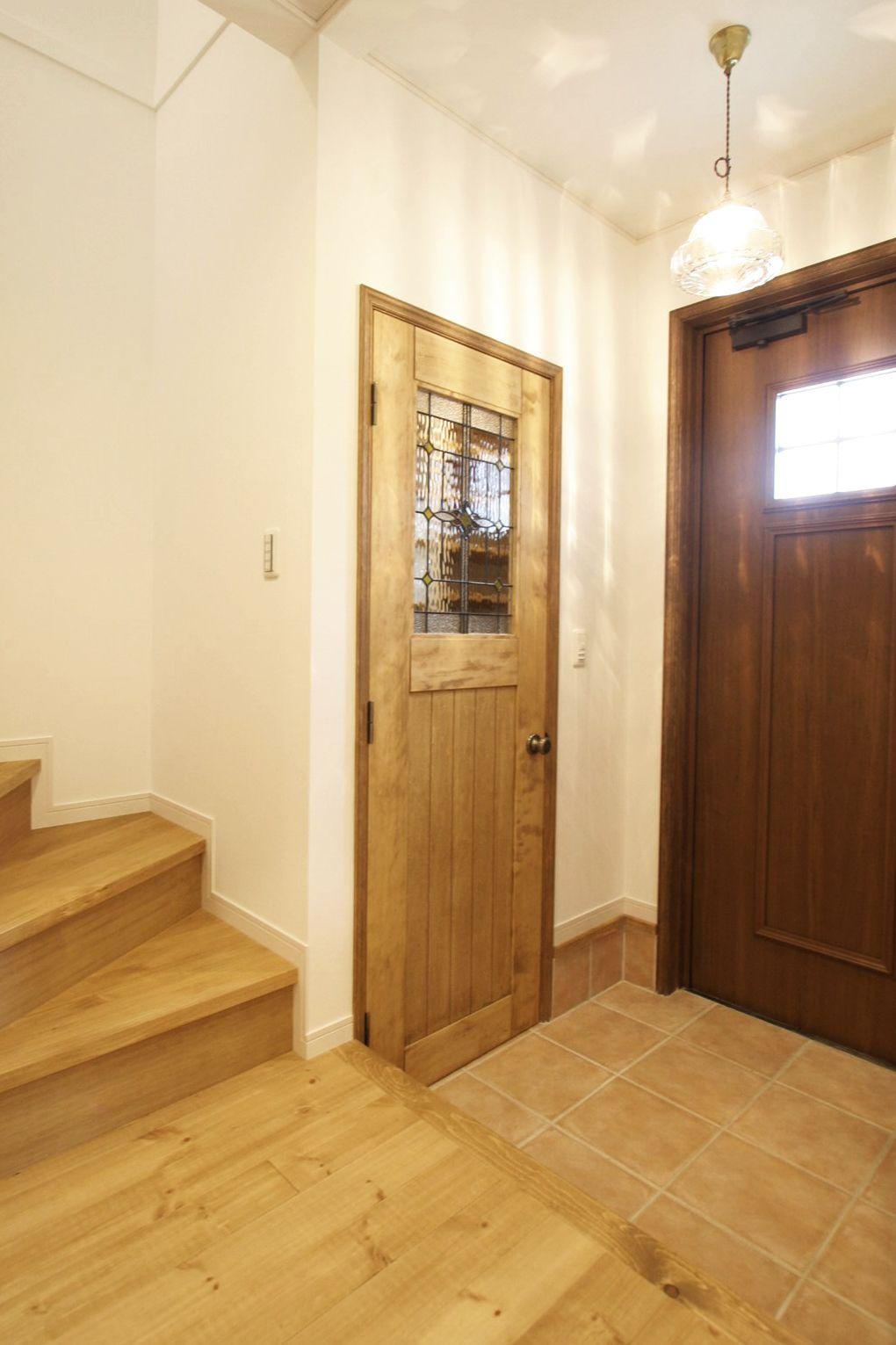 室内ドア ステンドグラス シューズクローク 玄関 ドア 造作ドア 扉