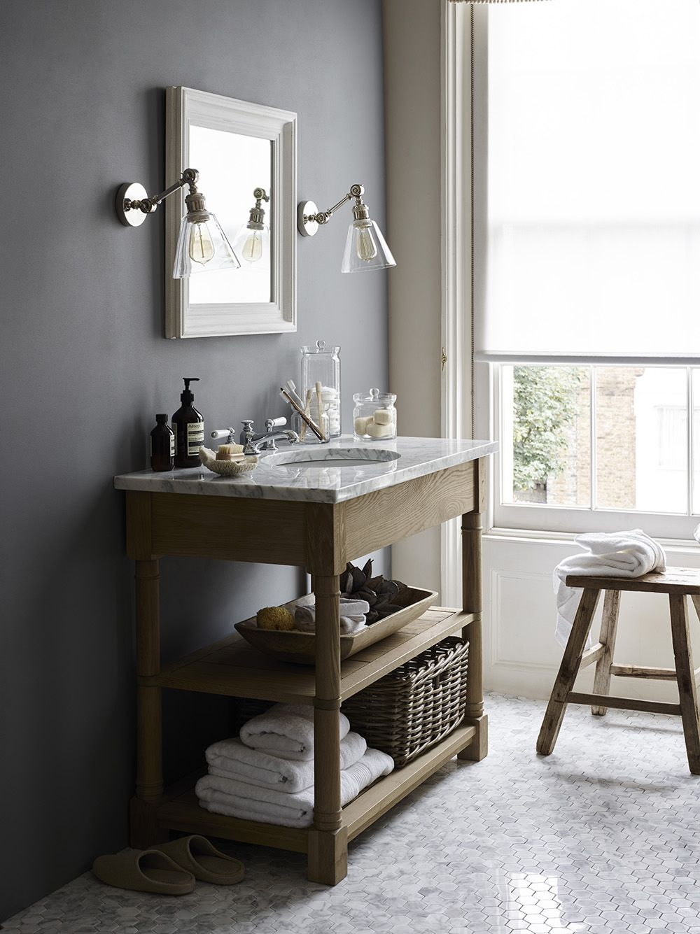 Bathroom Mirrors Edinburgh edinburgh washstand, carrar marble vanity top. buckingham square