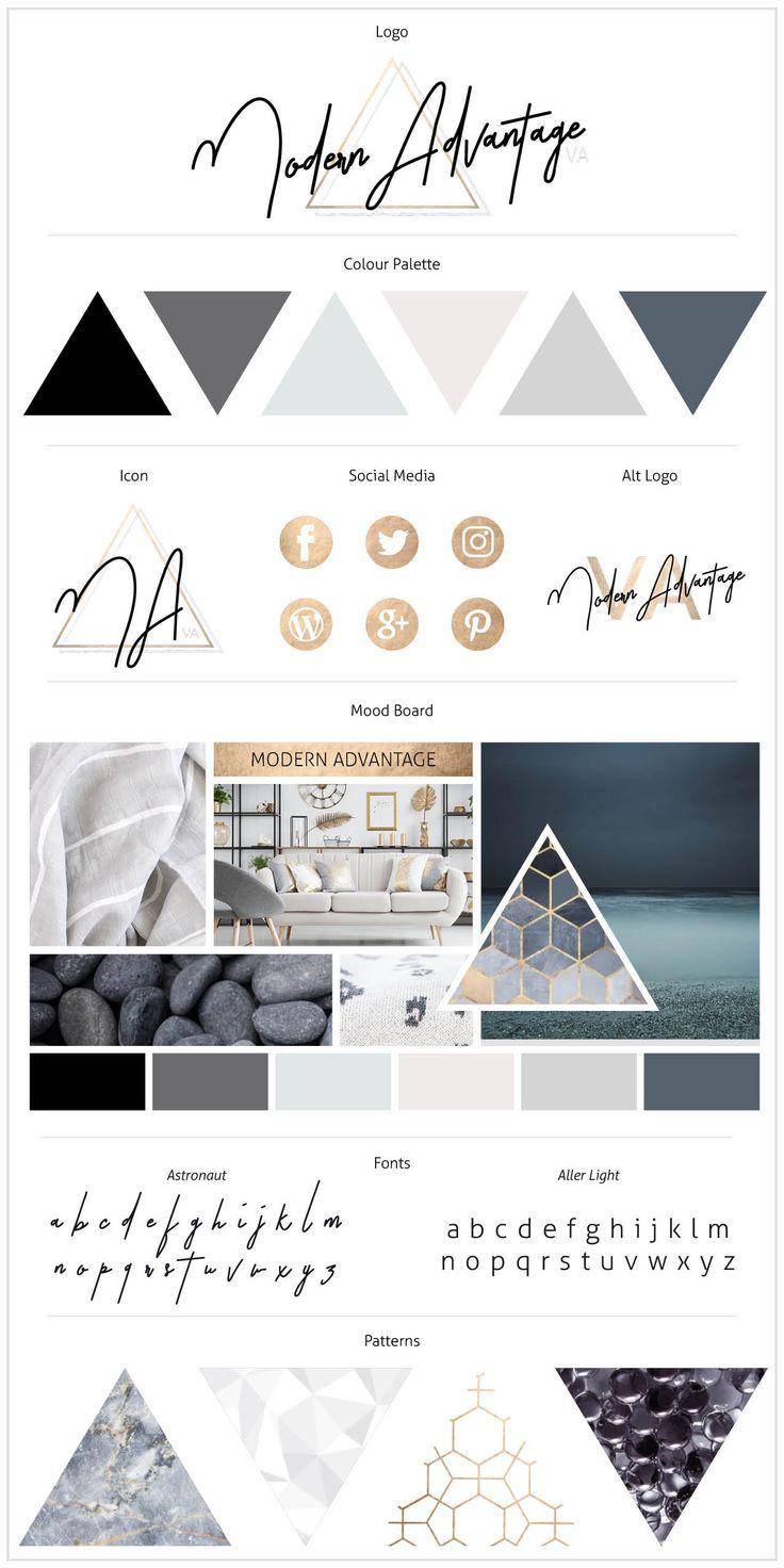Portfolio Fashion logo design, Portfolio design, Brand board