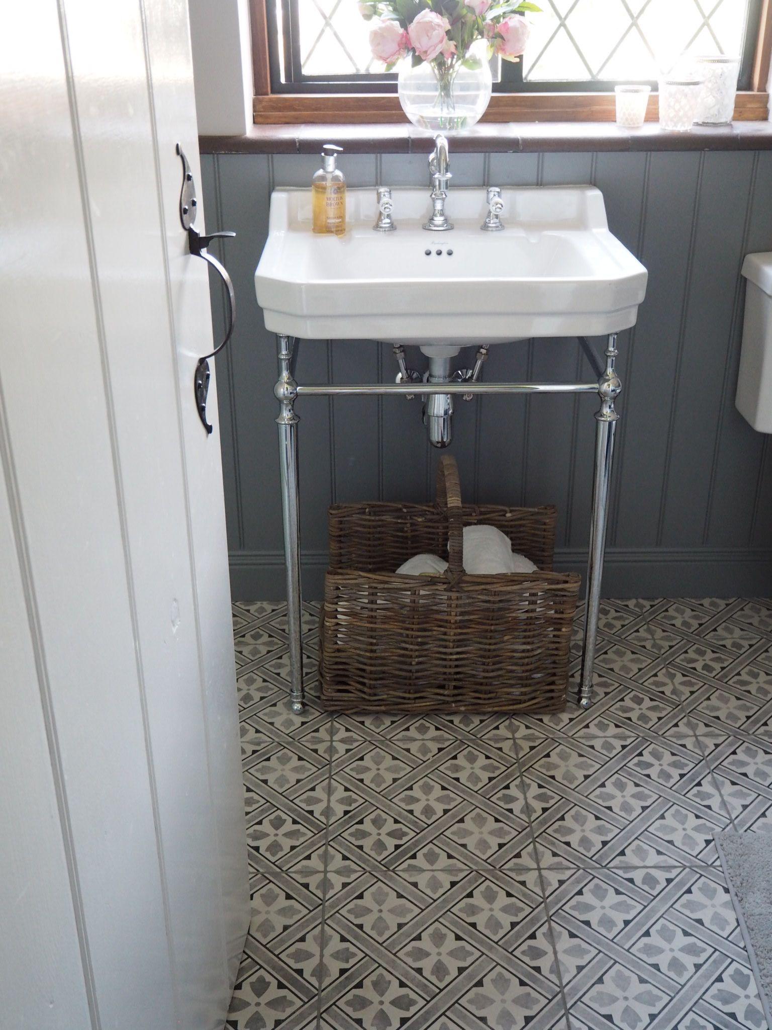 Laura Ashley Mr Jones Floor Tiles And Victorian Plumbing Basin