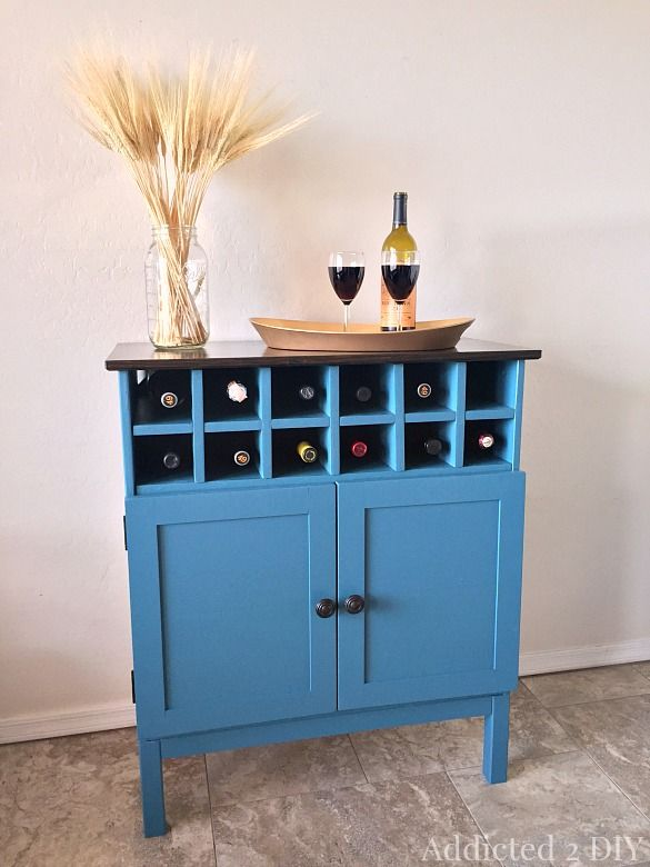 IKEA Tarva Hack 3 Drawer Chest to Bar Cabinet | Drawers, Bar and ...